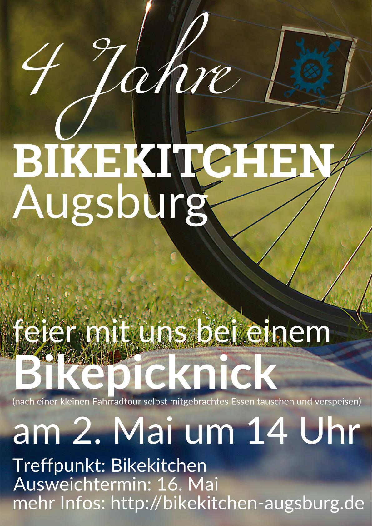 vier ganze jahre bikekitchen augsburg. Black Bedroom Furniture Sets. Home Design Ideas